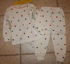 NWT Janie and Jack Girls Size 6 Halloween Cat Pumpkin Pajamas Set Top Bottom