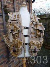 British Military Army Molle Tactical Load Vest & 9 Pouches, Paintballing Airsoft