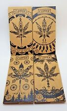 New 4 Booklets Clipper Rolling Papers 32 Leaves+Tips Unbleached King Size Papers