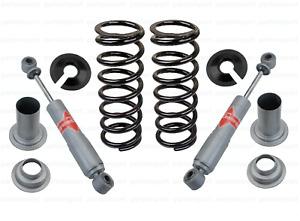 Rear Suspension Shocks + Coil Springs Kit for Jaguar Vanden Plas XJ XJ6 XJ12 XJS