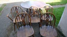 More details for ercol fleur de lys table & 5 chairs