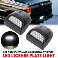 for 2000-2006 Chevy Tahoe Suburban GMC Yukon XL LED License Plate Light Housing