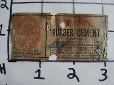 Orig Vintage label: AMAZON RUBBER CEMENT eugene arnstein Chicago Ill.