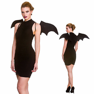 Adult Black Ladies Bat Wings Halloween Fancy Dress Costume Accessory