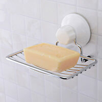 Stainless Steel Soap Holder Strong Vacuum Suction Cup Soap Storage Dish Box KQ