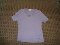 EASTEX-LADIES T-SHIRT TOP SIZE 10 SUMMER PARTY WORK EVERYDAY HOLIDAY LEISURE