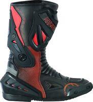 Raxid Motorcycle Waterproof Genuine Leather motorbike Boots Sports Racing Mens