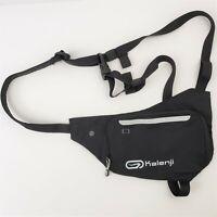KALENJI Crossbody Bag Running Smartphone Sport Black Pouch Zip Running Hiking