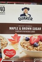 ((TWO BOXES)) QUAKER OATS INSTANT OATMEAL MAPLE BROWN SUGAR ((LOW STOCK))