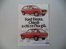 advertising Pubblicità 1979 FORD FIESTA L