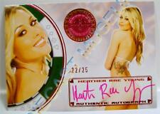 HEATHER RAE YOUNG PLAYBOY PLAYMATE AUTO BENCH WARMER VEGAS BABY 2013 22/25 RARE