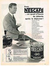 PUBLICITE ADVERTISING   1959   NESCAFE  café soluble