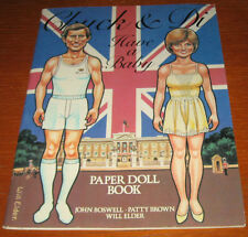 1982 CHUCK AND DI HAVE A BABY PAPER DOLL BOOK SIMON AND SCHUSTER,NY Princess  Di
