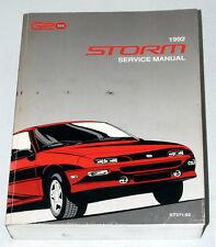 1992 CHEVY GEO STORM 2+2 GSi Hatchback Factory Dealer Shop Service Repair Manual
