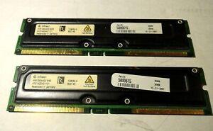 Infineon RAM Memory Module 128MB PC800-45 RDRAM RIMM non-ECC HYR166440G-845