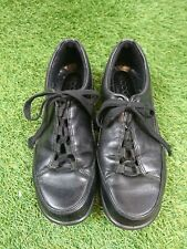 Ecco Black Leather Comfort Lace Up Shoes Size UK4 (37)