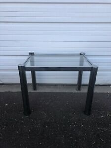Mid Century Modern Chrome And Glass Coffee Table / End Table