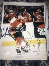 Theoren Theo Fleury Signed Calgary Flames 8x10 Photo Auto JSA