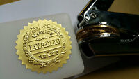 Custom design Personalized LOGO Embosser GOLD Seal EZ stamp wedding business