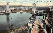 Kansas City Missouri Electric Park Antique Postcard (J37458)