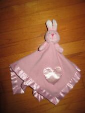 Baby Boom Pink Rabbit Heart Security Blanket/Lovey Plays Music