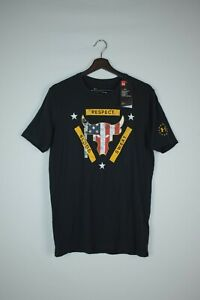 Under Armour Project Rock Freedom Bull USA Flag Shirt Black Mens S 1345585-001