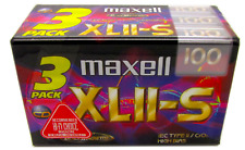 More details for maxell xlii-s 100 blank type 2 ii chrome audio cassette tape 3pack new & sealed