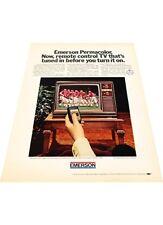 1972 Emerson TV Television Remote control - Vintage Advertisement Print Ad J405