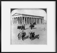 Photo: Best Preserved Temple, Greece, doric Theseion, Athens, Donkeys, Carriage,
