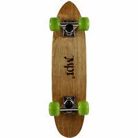 Vintage NOS 1970s MPI Old School Skateboard Complete Dark Wood Kicktail Cruiser