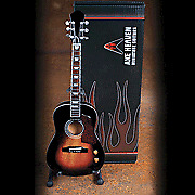 ACOUSTIC VINTAGE SUNBURST FINISH MODEL, Miniature Guitar Replica Collectible