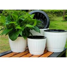Plant Pots Strong Plastic White Flower Pot Hanging Planter High Quality F004