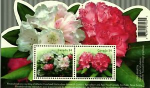 Canada #2818 Rhododendrons  SS(2) MNH CV$3.00