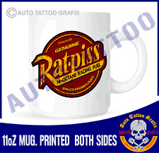 POWERED BY RATPISS TEA COFFEE MUG CUP WORKSHOP GARAGE OFFICE MAKES A COOL GIFT