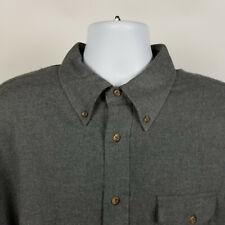 Brooks Brothers Regular Fit Cotton Dark Gray Flannel Mens Dress Button Shirt XL