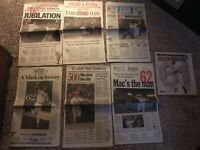 Vintage Mark McGwire Home Run Record Newspaper Lot