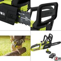 Ryobi 10 in. 18-Volt Lithium-Ion Cordless Chainsaw w/ 1.5 Ah Battery And Charger