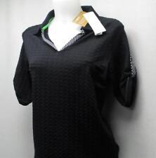 New Ladies Small Nancy LOPEZ CHOICE black golf polo shirt