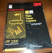 "Transparency Film, 3M, PP 2200, For Plain Paper Copiers, 8.5"" x 11"" - Box of 100"