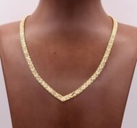 5mm Cleopatra Diamond Cut Ricco Chain Necklace 14K Yellow Gold Clad Silver 925