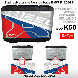 2 adesivi valigie vario BMW R1250GS Rallye R 1250GS K50 GS Compatibili GS
