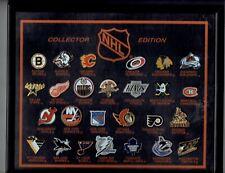 1990's Vintage NHL Hockey  26 Logo Pins Framed Set  RARE