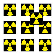 10 Sticker 5cm Radioactive Sticker Caution Radiation x Ray Symbol 4061963068434