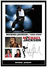 157. michael jackson  Signed a4 Photogragh great gift