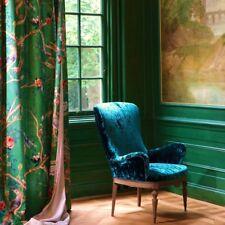"""""""stoffdesign!"""" AVVENTURA* Traum-Halbleinen grün mit Blumen+ Vögeln von Carlucci"""