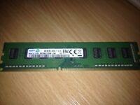 4GB (1x4GB) Samsung 1Rx8 PC3 12800U 1600mhz DDR3 RAM Desktop PC Memory Stick PC