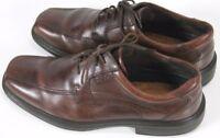 ECCO Men's $110 Oxfords Dress Shoes Size EU 45 US 11-11.5 Leather Brown Lace Up