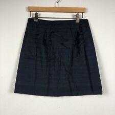 LEIFSDOTTIR by ANTHROPOLOGIE Navy Blue Size 6 Tiered Lined Zipper Skirt A3
