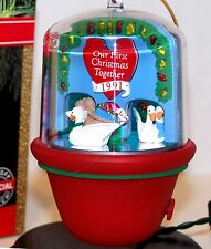 1991 NEW HALLMARK Ormament OUR FIRST CHRISTMAS TOGETHER QLX7137 Mint TestedWorks