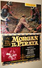 fotobusta originale MORGAN IL PIRATA Chelo Alonso Steve Reeves 1960 #4